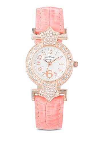 水晶esprit官網仿皮圓錶, 錶類, 飾品配件