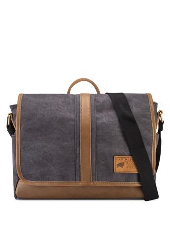 RAV Design black Canvas Messenger Bag RA113AC03IZSMY 1 4d0ad4b2a6