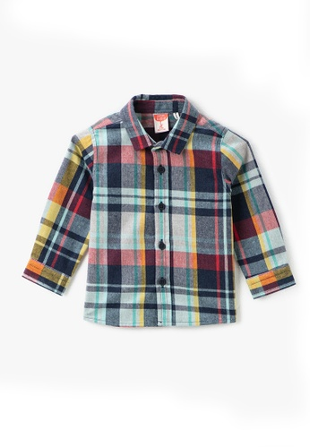 KOTON navy Long Sleeve Shirt 0135AKA0AF878CGS_1