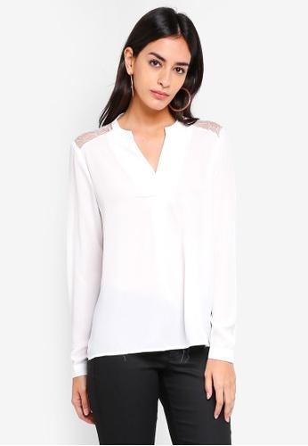 Vero Moda white Gudrun Long Sleeve Top BD8B4AAFE123F0GS_1