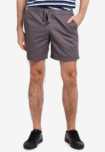 Penshoppe grey Modern Fit Shorts With Drawstring PE124AA0SN1DMY_1