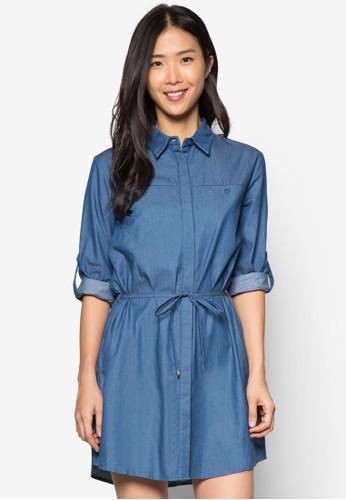 經典束腰襯衫式連zalora 衣服尺寸身裙, 服飾, 夏日洋裝