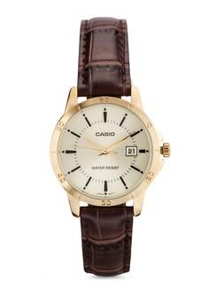 Casio LTP-V004GL-9A 真皮錶帶女性手錶