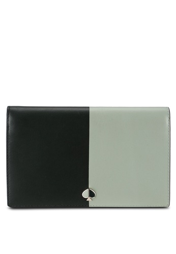 kate spade new york green Nicola Bicolor Clutch Wallet (cv) AA7E8AC6F98D17GS_1