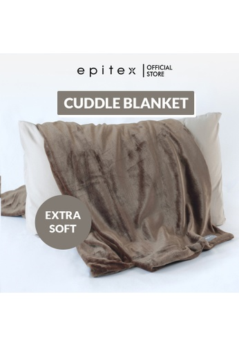 Epitex Epitex Brown Cuddle Blanket - Fluffy Blanket - Quilt - Comforter CC5F6HL54AB2E4GS_1