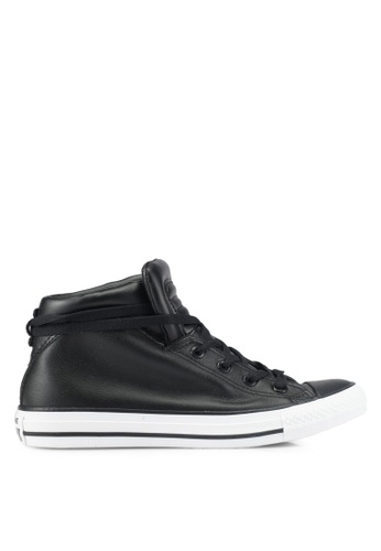 Converse black Chuck Taylor All Star Brookline Mid Sneakers CO302SH0SXUWMY_1