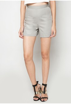 Solid-toned High-waist Shorts