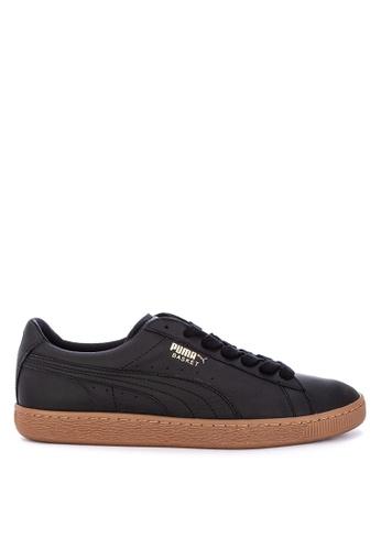 premium selection 1c327 4e860 Puma black Basket Classic Gum Deluxe Sneakers E19E0SHAF88540GS 1