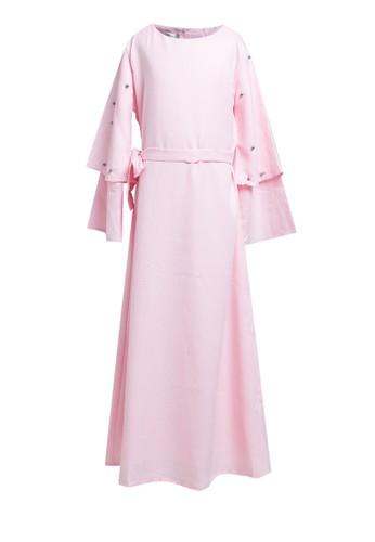 Little Heart pink Double Layer Bell Sleeve Dress 18EB9KA0B8EA0FGS_1