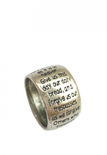La Miina silver and grey Our Father Ring 4E4BAACC2D06C3GS_1