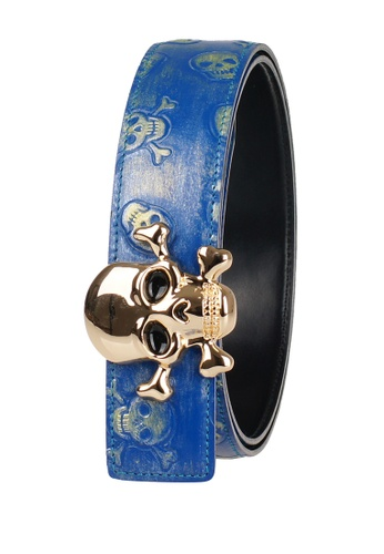 FANYU blue Men Leather Belt Skeleton Grain Blue FA549AC67QAUSG_1