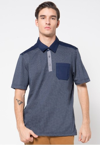 Watchout! Casual navy Polo Shirt 048 WA972AA66PFPID_1