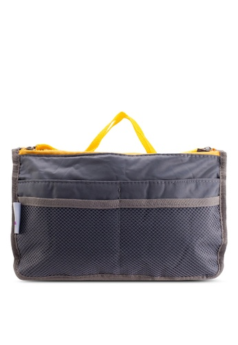 Bagstationz grey Bagstationz Premium Lightweight and Water-Resistant Multi-Compartment Bag-In-Bag Organizer BA607AC51TJCMY_1