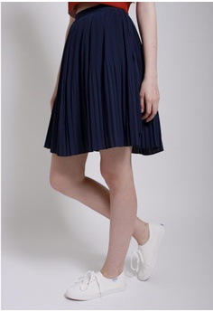4320b37846 50% OFF QLOTHE Rapture: Bonny Pleated Skirt S$ 59.00 NOW S$ 29.50 Sizes S