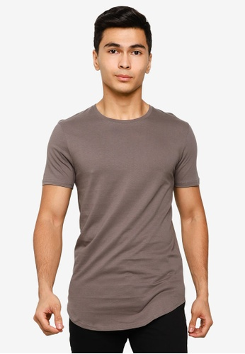 Factorie 多色 The Curved Tall Tee 157B4AA88088F6GS_1
