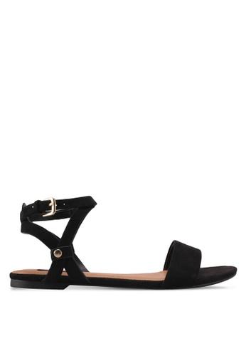 ZALORA 黑色 Strappy Sandals 0860ASH6EEAC49GS_1