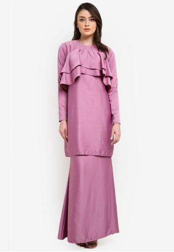 Dewi Sofiea purple Camelia Kurung DE406AA0S5DEMY_1