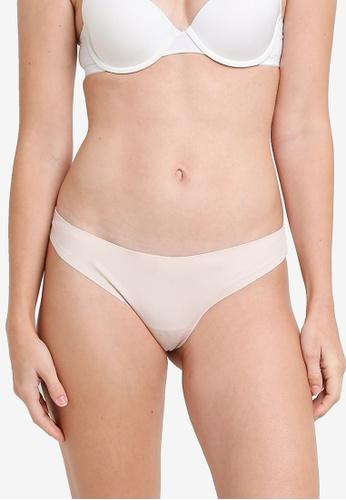 ZALORA CORE beige Core Women's Laser Cut Thong D37C3USD32D4B4GS_1
