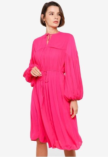 H&M pink Crinkled Tunic 52A04AAFB2E4B0GS_1