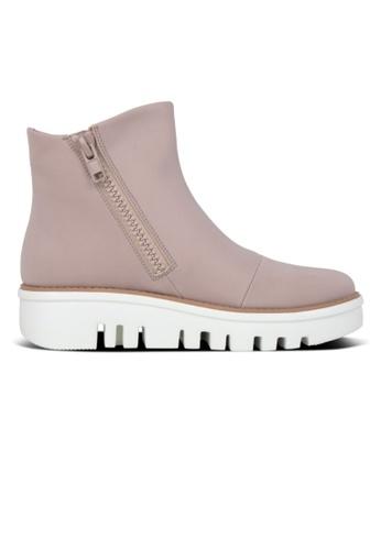 FitFlop beige Fitflop Chunky Zip Ankle Boots Mink 6110ESHDD05B0EGS_1