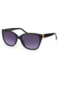 6342e1bcabf72 Carolina Herrera black Carolina Herrera Square Sunglass SHE566 - 56 - Shiny  black CA442GL94DSFID 1