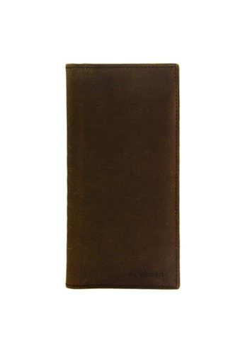 EXTREME brown Extreme Genuine Leather Long Wallet RFID Prevention Vintage Brown 17DB3AC7BE1F87GS_1