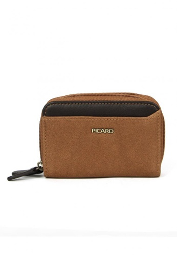 Picard brown Munich Zip Around Wallet - Dual Comaprtment PI517AC80CHBSG_1