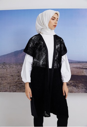 Hijabenka black Lala Flare Outer Black 0086BAA1985FB2GS_1