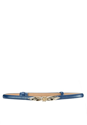 Zolace blue and gold Leaf in the Moment Belt ZO350AC52PJFMY_1