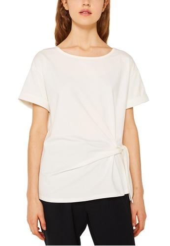 Esprit white Women Knitted T-Shirt F7031AAFB2295CGS_1