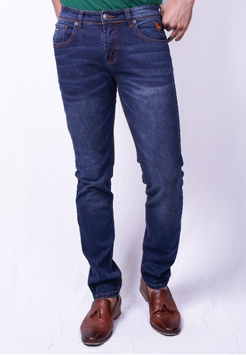 MILANO blue and navy Milano Jeans Long Pants Tight Fit Stretchable B05FDAAB998A51GS_1