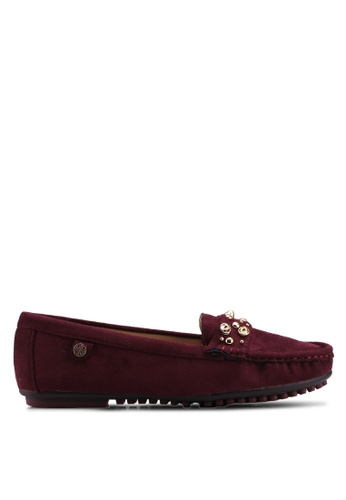 Carlton London red Faux Suede Loafers 4BCBBSH78042BBGS_1