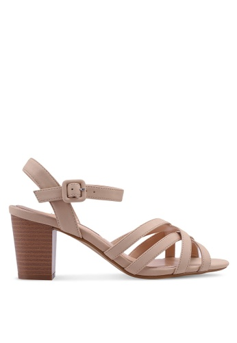 Dorothy Perkins pink Nude 'Sandy' Crossover Sandals 9030ESH350D76DGS_1