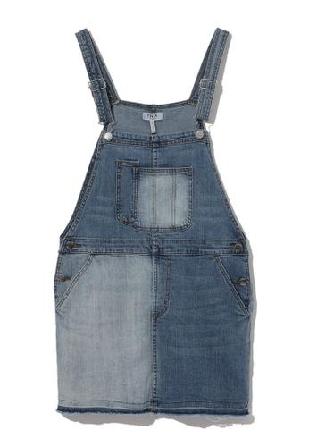Fivecm blue Denim dungaree dress 1D49BAA2D46637GS_1