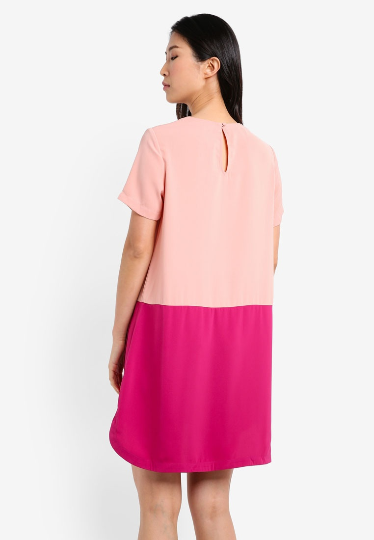 Dress Pocket Peach Patch Magenta ZALORA Colorblock w8O1BWnz8q