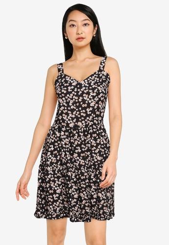 ZALORA BASICS multi Sweetheart Tiered Mini Dress 544B4AA44F262BGS_1