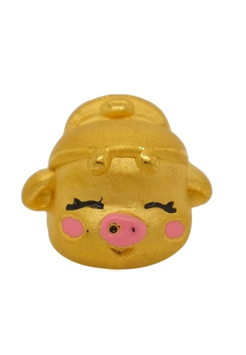 LITZ gold [Free Bracelet] LITZ 999 (24K) Gold Pig Charm EPC0532 EF51BACC26B8A6GS_1