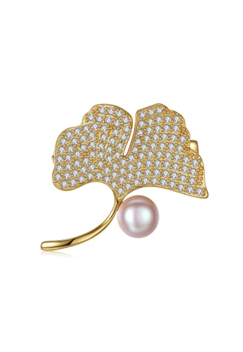 A.Excellence pink Premium Pink Pearl brooch 906F1AC777DA7CGS_1