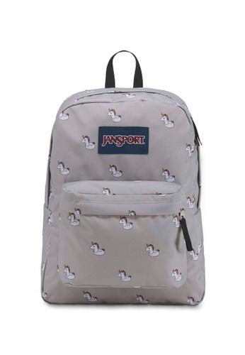 97e41ae0f4 Jansport grey Jansport Superbreak Unicorn Backpack - 25L 56A02AC4B2AD76GS 1