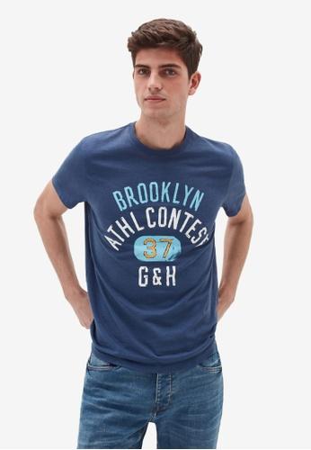 OVS blue Casual T-Shirt 1E7AFAA475B217GS_1