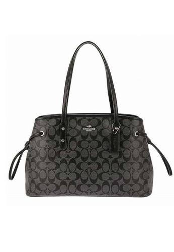 Coach black Coach Signature Drawstring Carryall Shoulder Bag (F57842) - SV/BLACK SMOKE/Black 5F80EAC25E8418GS_1