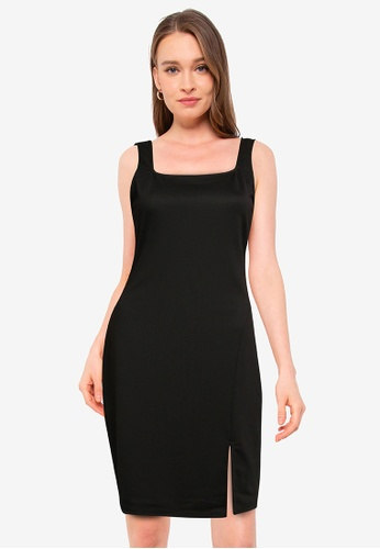 Vero Moda black Edna Sleeveless Short Dress 4D844AAE826438GS_1