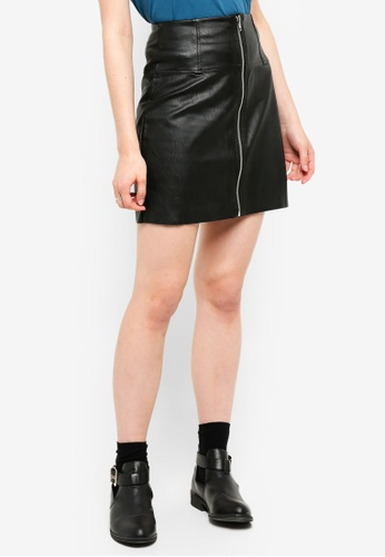 Pieces black Tecia Skirt E2604AA6B89ED1GS_1