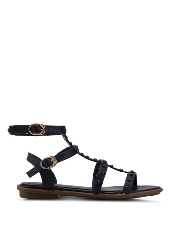 Nose blue and navy Round Stud Ankle Strap Sandals 75B1FSHD25180FGS_1