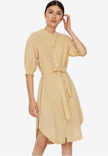 Vero Moda yellow Annabelle 2/4 Shirt Dress 03E17AAC21C6C9GS_1