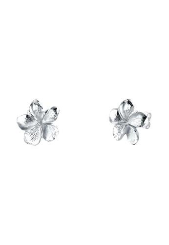 素馨花 925 純銀耳環, 飾品配件, esprit 折扣耳釘