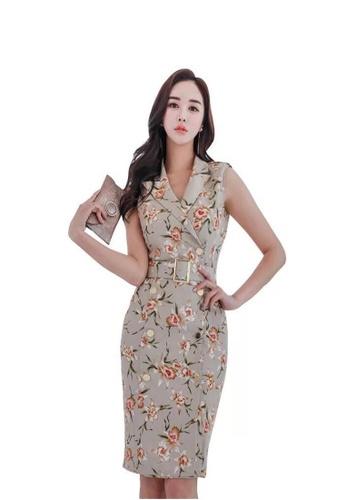 6f2d51e32d38 Crystal Korea Fashion multi Temperament Double-breasted Sleeveless Suit  Collar Dress E5A11AAD8B9A01GS_1