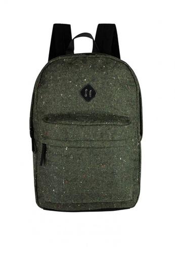 London Rag green Solid Toned Backpack E413BAC47EC964GS_1