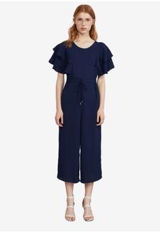 fdfa13974133 Buy Tokichoi Cut Off Shoulder Tie Jumpsuit