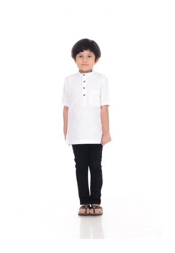 BMO white BMO Short Sleeve KURTA PREMIUM KID White 17B4BKA0751411GS_1